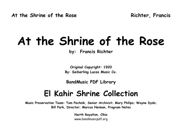 At the Shrine of the Rose