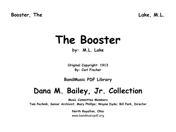 Booster, The