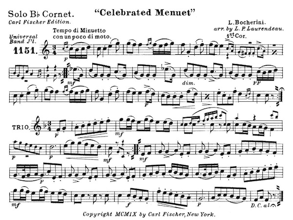 Celebrated Menuet