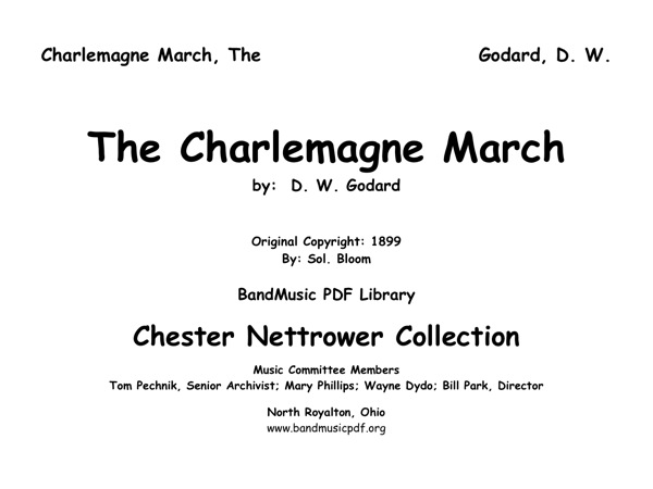 Charlemagne March, The