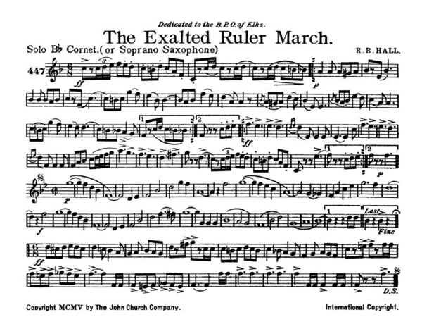 Exalted Ruler March, The