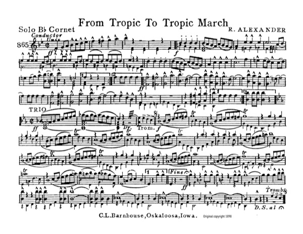 From Tropic to Tropic March