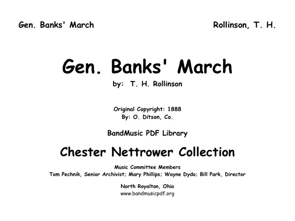 General Banks' March