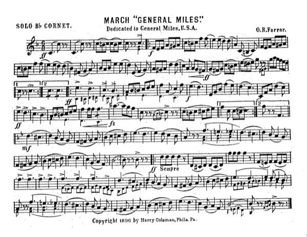 """March """"General Miles"""""""