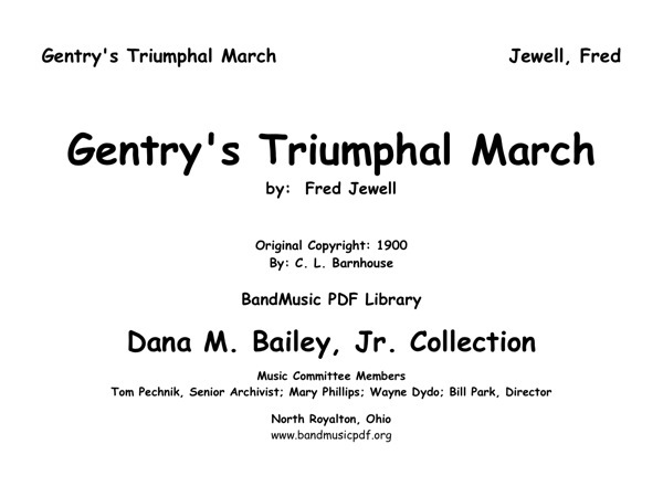 Gentry's Triumphal March