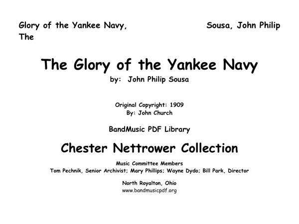 Glory of the Yankee Navy, The