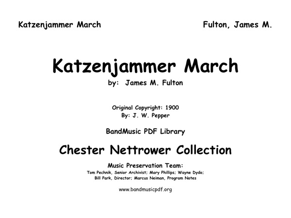 Katzenjammer March