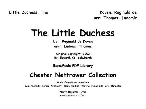 Little Duchess, The