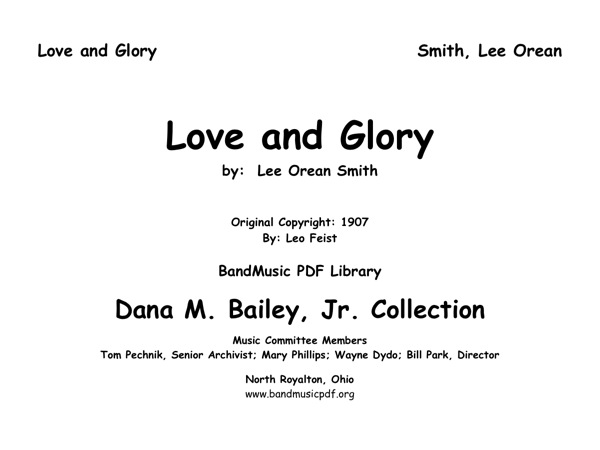 Love and Glory