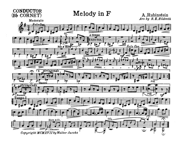Melody in F