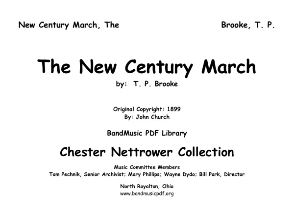 New Century March, The