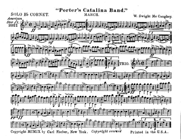 Porter's Catalina Band