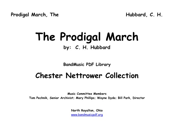 Prodigal March, The