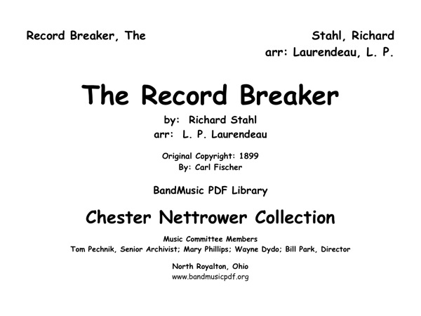 Record Breaker, The