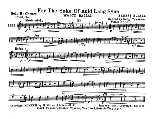 For the Sake of Old Lang Syne