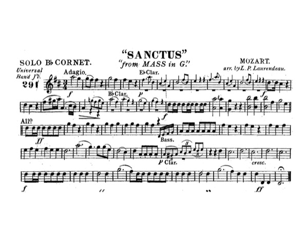 Sanctus, from Mass in G