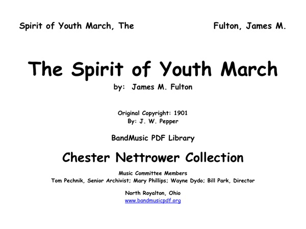 Spirit of Youth March, The