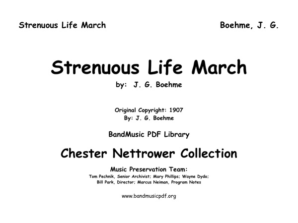 Strenuous Life March