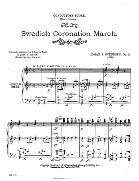 Swedish Coronation March