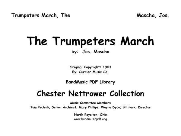 Trumpeters March, The