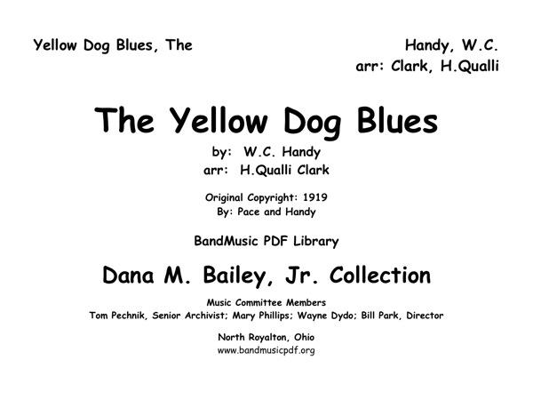 Yellow Dog Blues, The